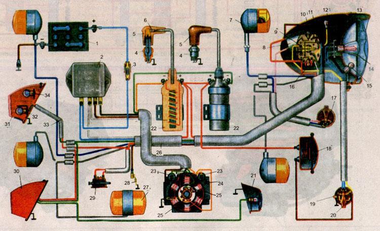 Электро схема иж п 3.